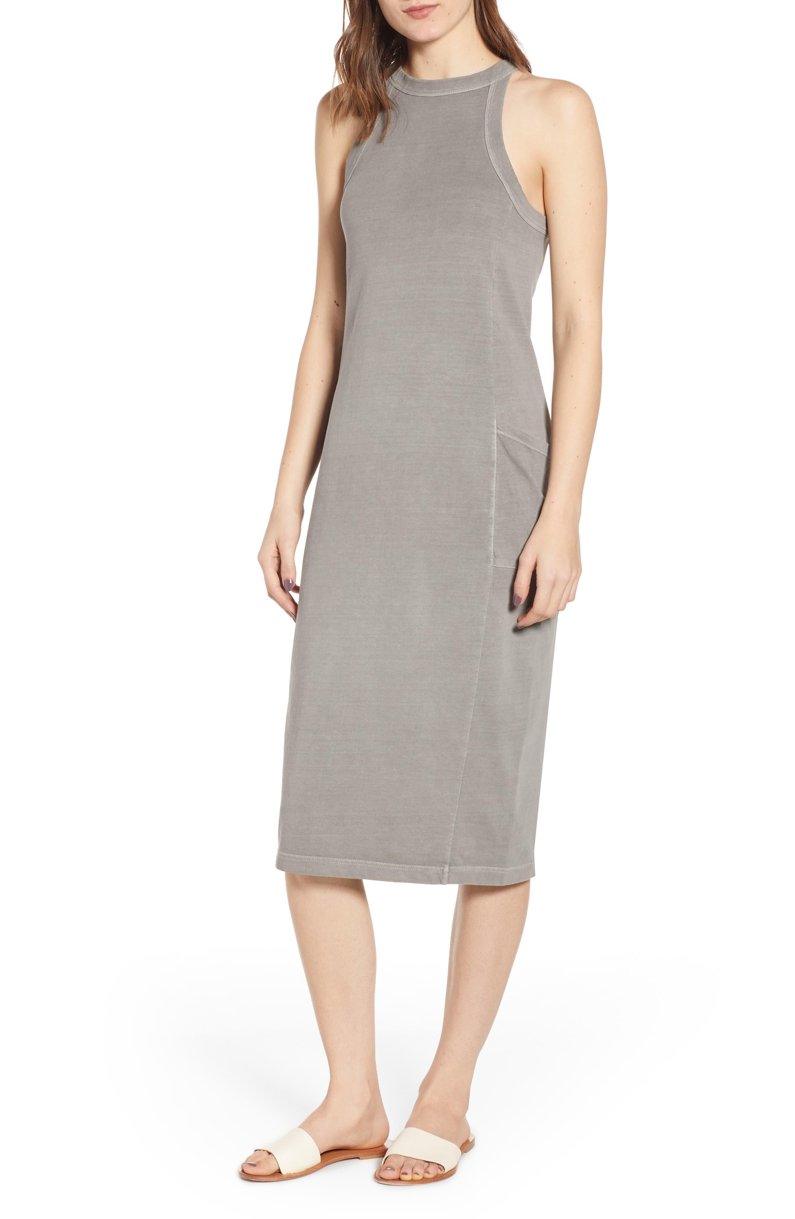 Plus Size Bp. Summer Midi Dress, Grey