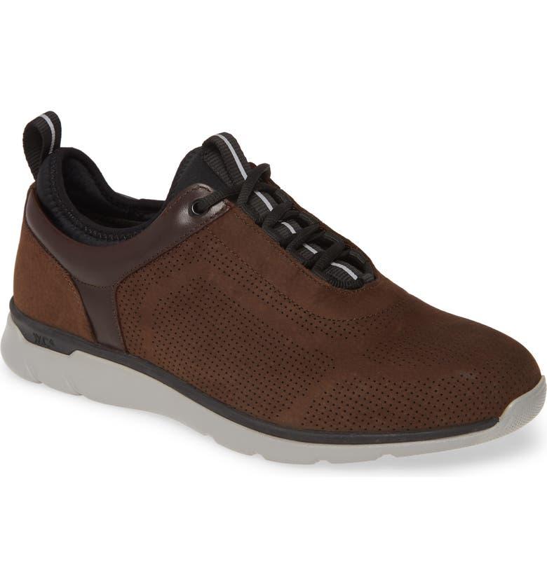 JOHNSTON & MURPHY Prentiss Waterproof Sneaker, Main, color, CHOCOLATE NUBUCK