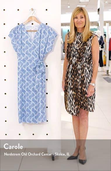 Print Stretch Silk Wrap Dress, sales video thumbnail