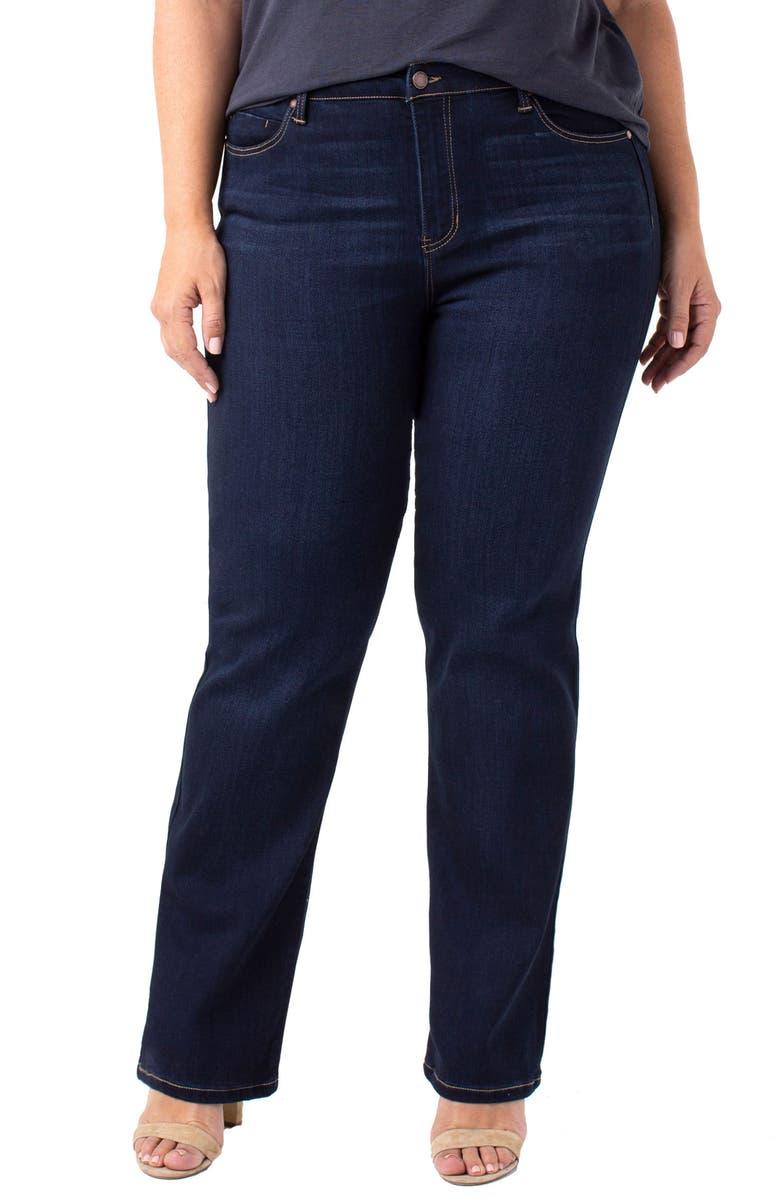 LIVERPOOL Sadie Straight Leg Jeans, Main, color, STONE WASH