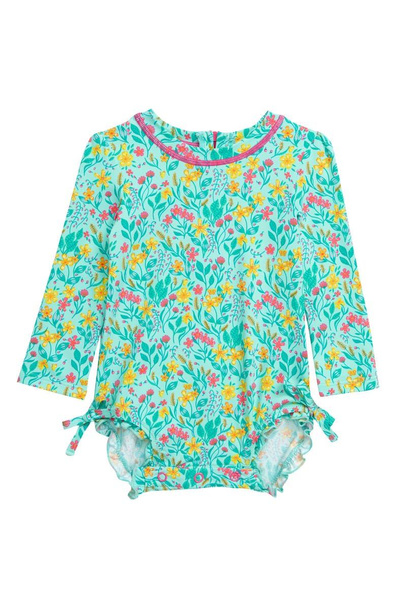 HATLEY Summer Garden One-Piece Rashguard Swimsuit, Main, color, 300