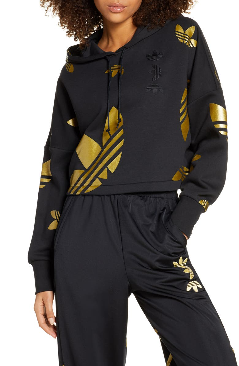 adidas hoodie gold