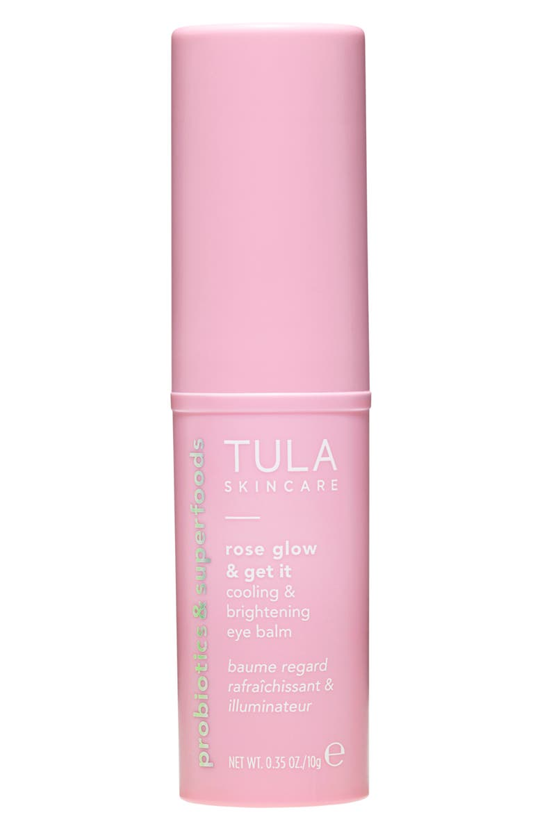TULA PROBIOTIC SKINCARE Rose Glow & Get It Cooling & Brightening Eye Balm, Main, color, NO COLOR