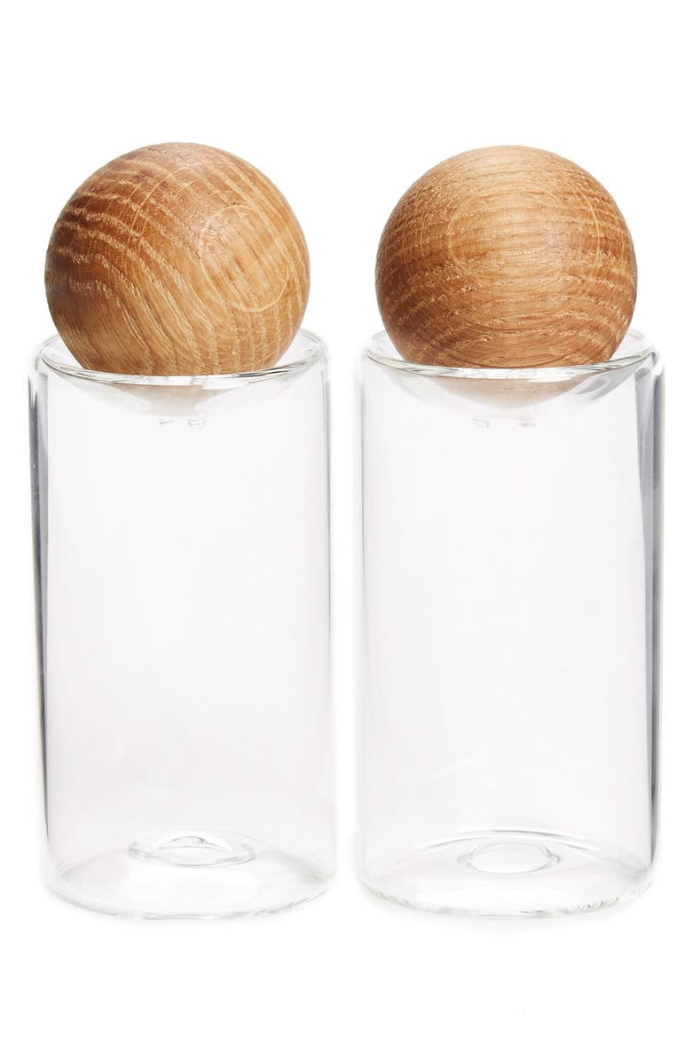 'oval Oak' Salt & Pepper Shakers by Sagaform