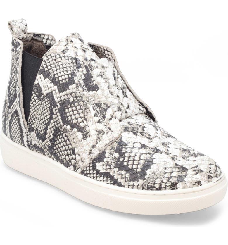MIZ MOOZ Laurent High Top Sneaker, Main, color, WHITE SNAKE PRINT LEATHER