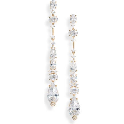Nadri Everlasting Linear Crystal Earrings