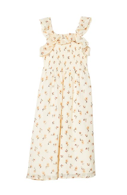 Image of Pastourelle by Pippa and Julie Sleeveless Floral Print Smocked Midi Dress