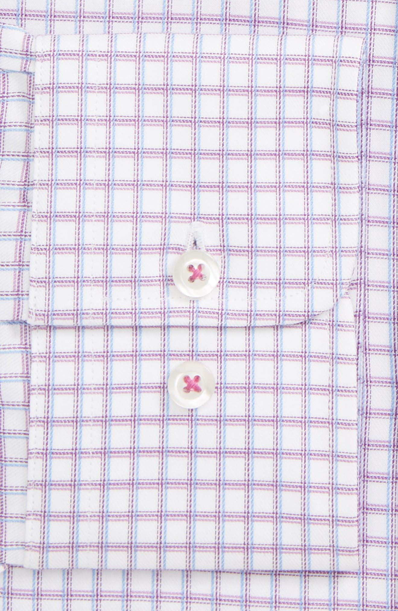 ,                             Trim Fit Check Dress Shirt,                             Alternate thumbnail 2, color,                             BERRY