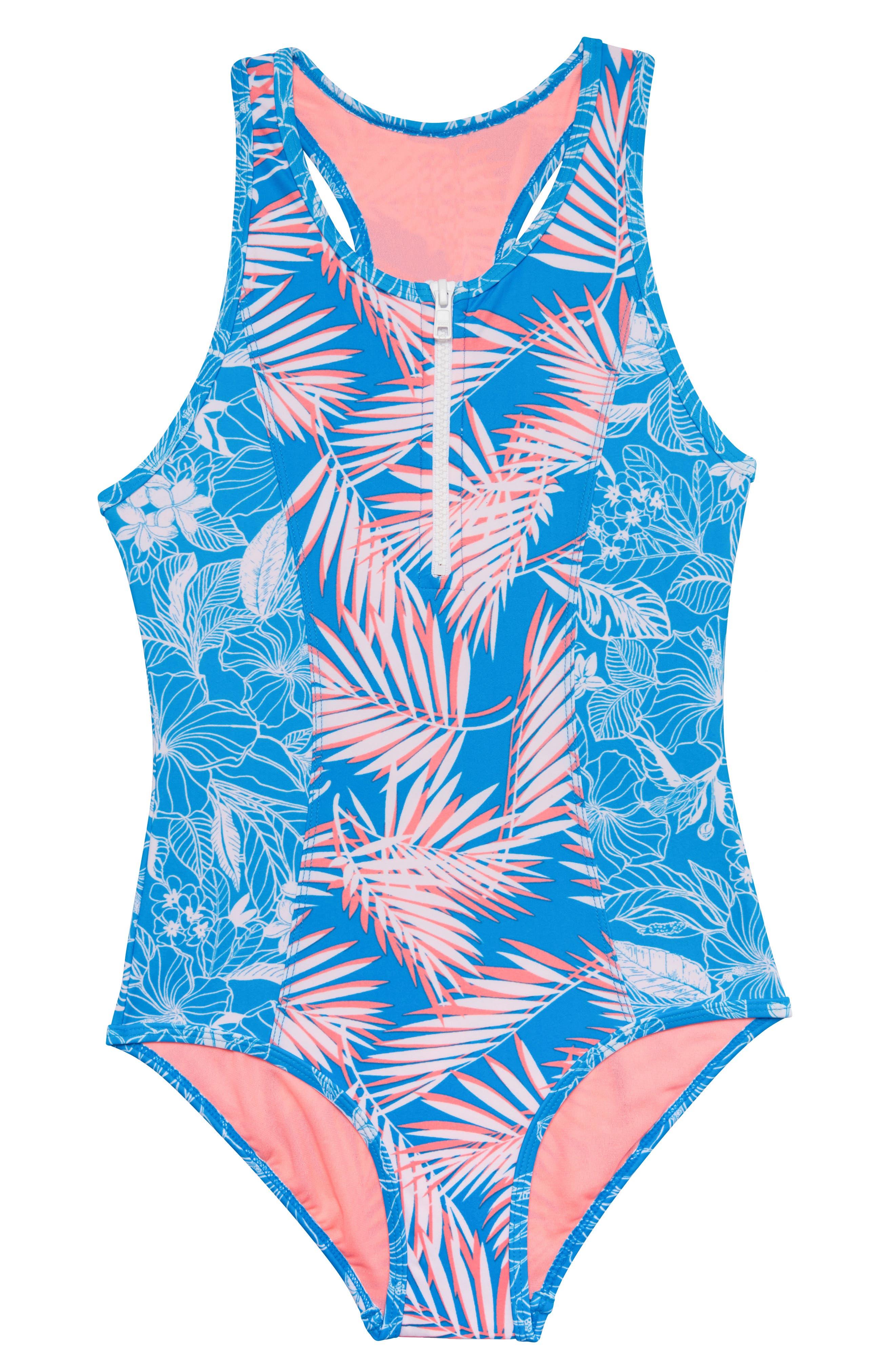d4ce35c19a2 Girl's Gossip Girl Cruise Along One-Piece Swimsuit, Blue