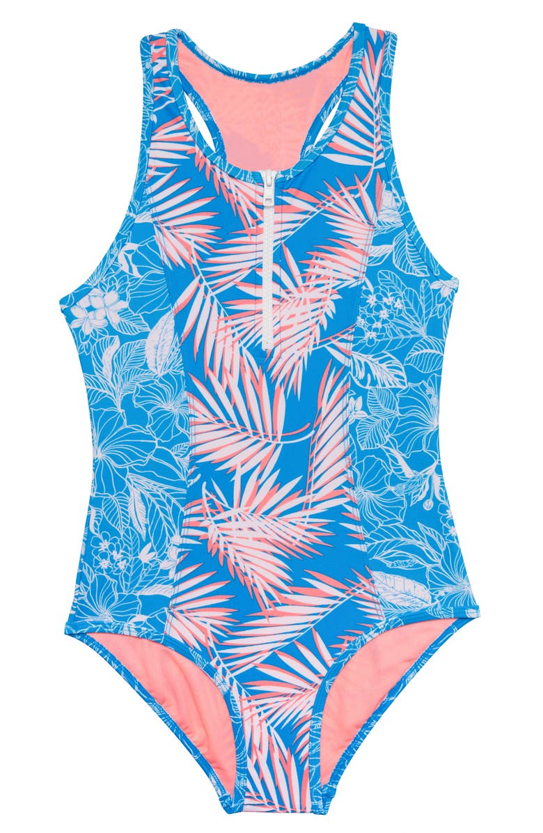 GOSSIP GIRL Cruise Along One-Piece Swimsuit, Main, color, 456