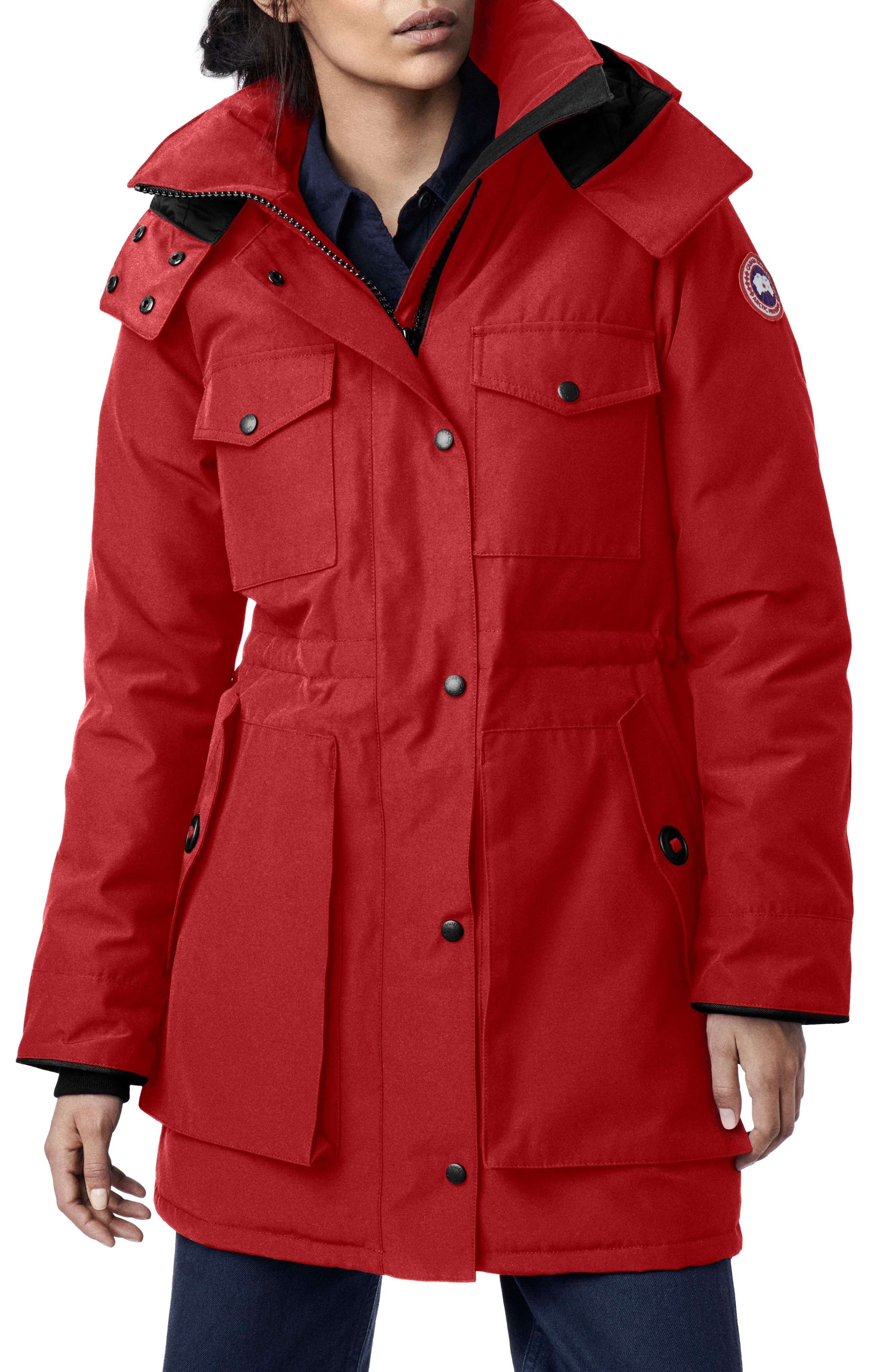 Canada Goose Gabriola Water Resistant Arctic Tech 625 Fill Power Down Parka, (14-16) - Red