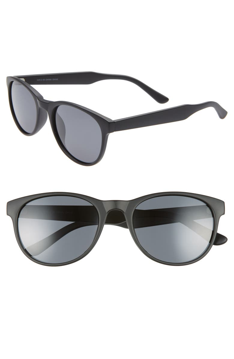 1901 Victor 54mm Polarized Round Sunglasses, Main, color, 001