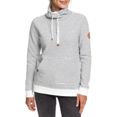 Roxy Worlds Away Funnel Neck Sweatshirt, Ivory