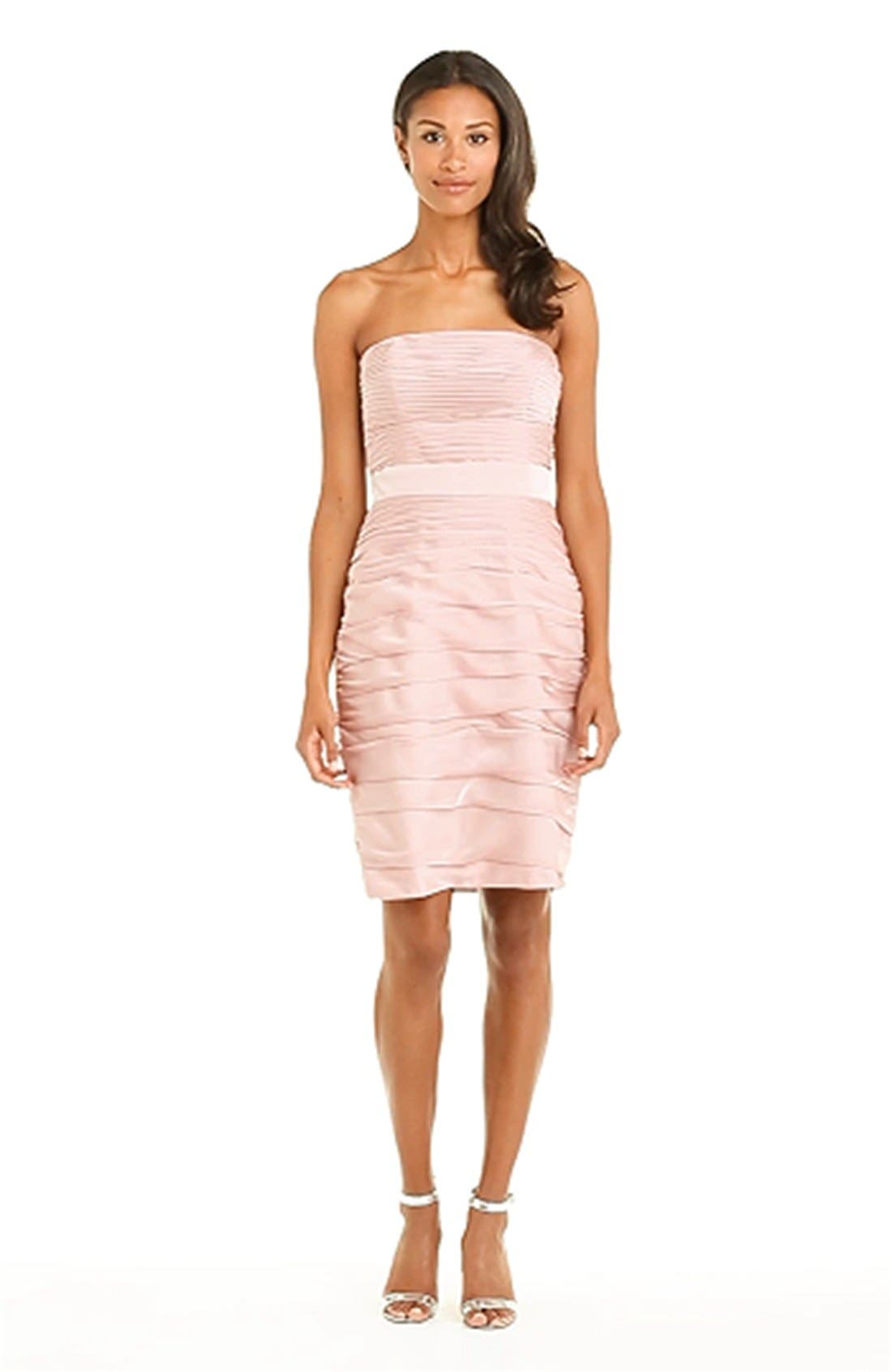 ,                             Ruched Strapless Cationic Chiffon Dress,                             Alternate thumbnail 68, color,                             697