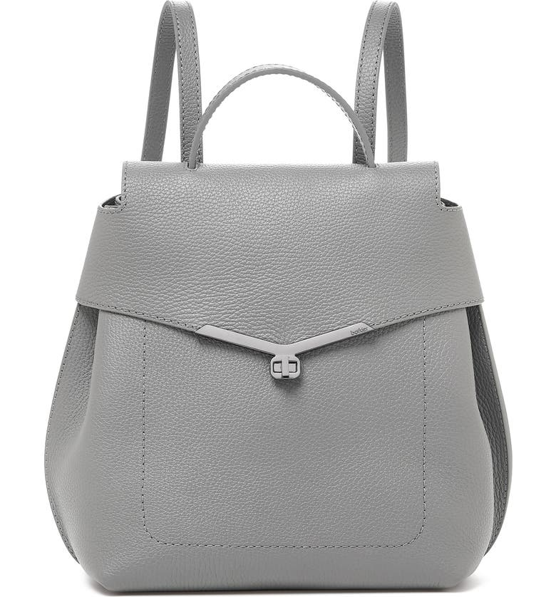 BOTKIER Valentina Wrap Leather Backpack, Main, color, SILVER GREY