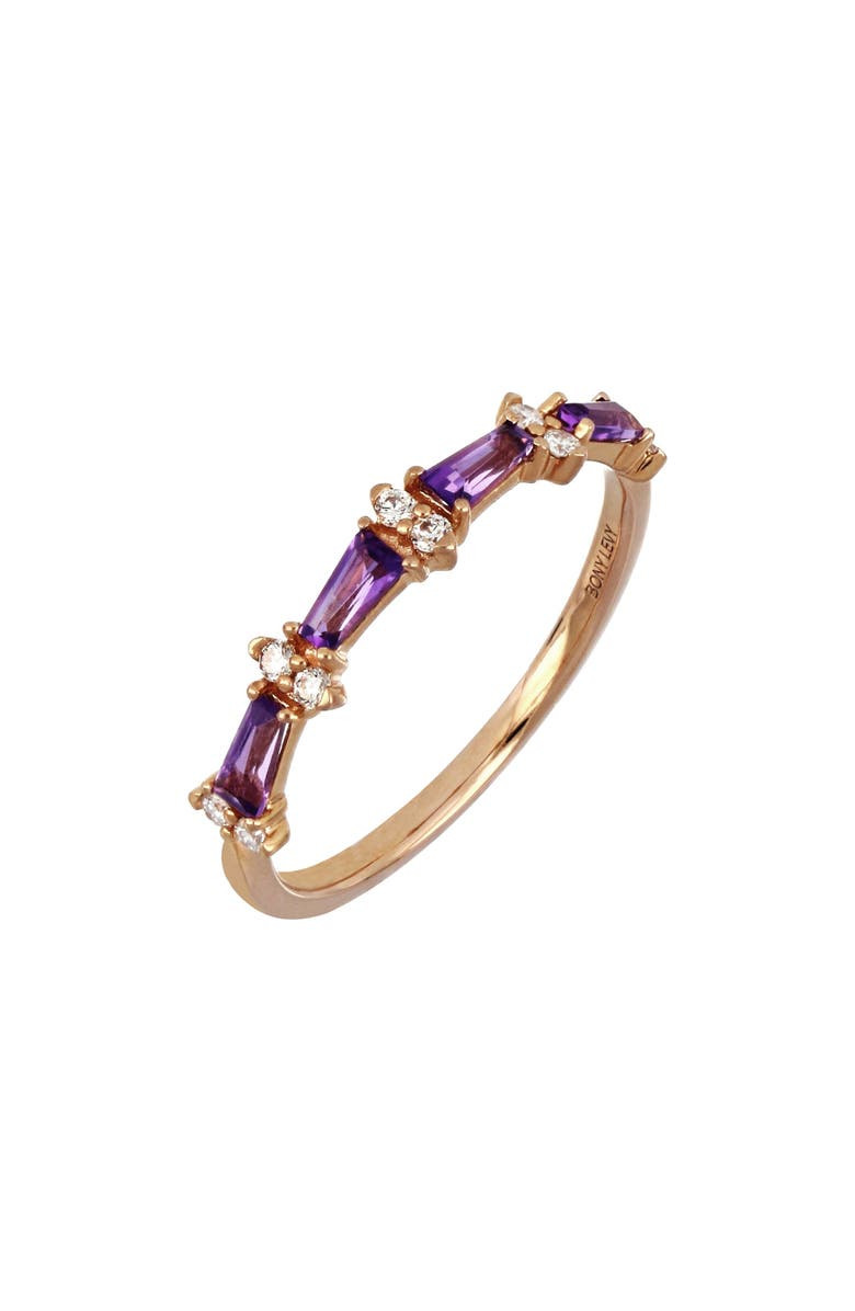 BONY LEVY Amethyst & Diamond Stacking Ring, Main, color, 712