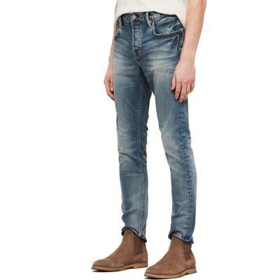 Allsaints Cigarette Skinny Fit Jeans, Blue