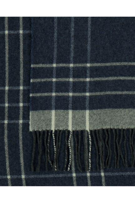 Image of Melange Home Italian Wool Blend Throw - Navy