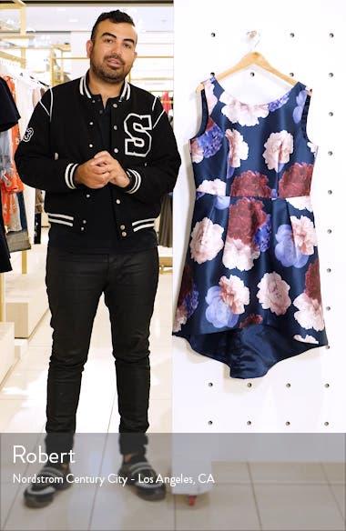 Jayla High/Low Satin Cocktail Dress, sales video thumbnail