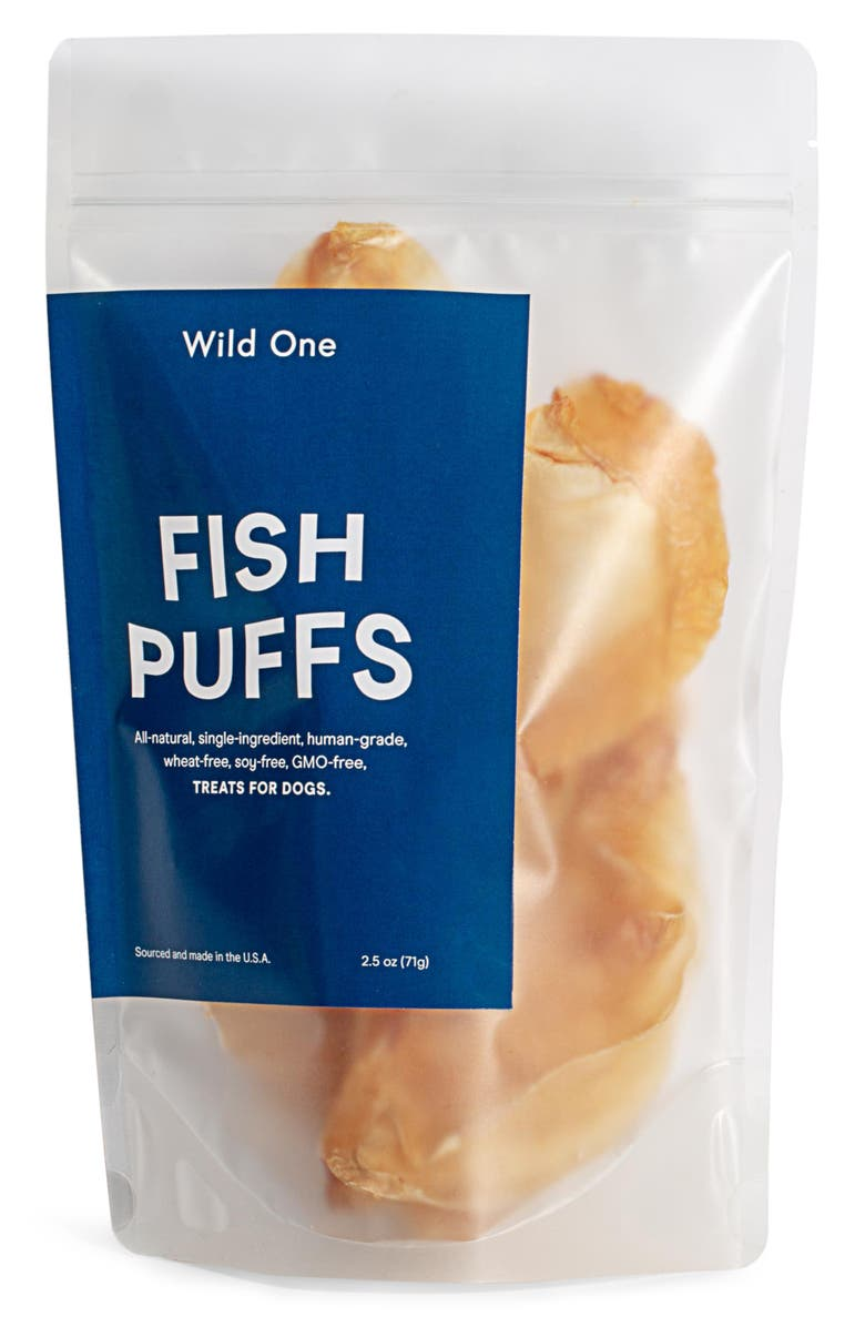 WILD ONE Fish Puffs Dog Snack, Main, color, FISH PUFFS