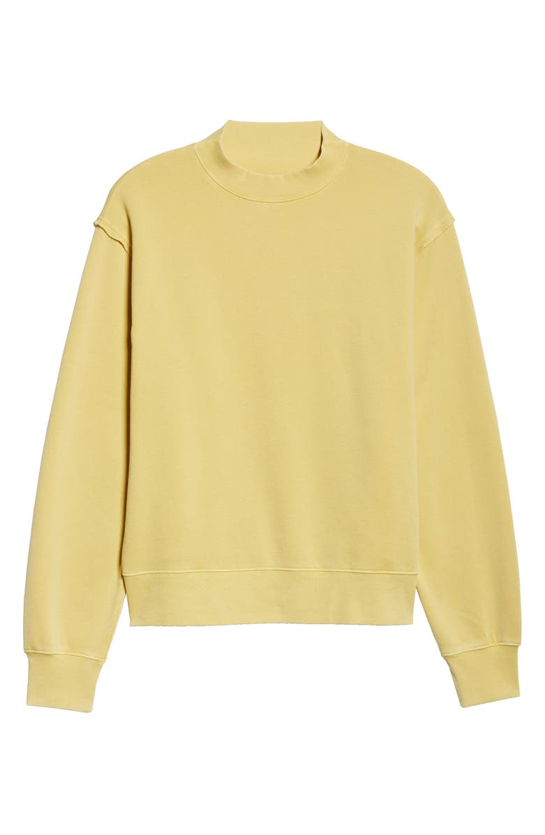 ALO Freestyle Mock Neck Sweatshirt, Main, color, SULPHUR WASH