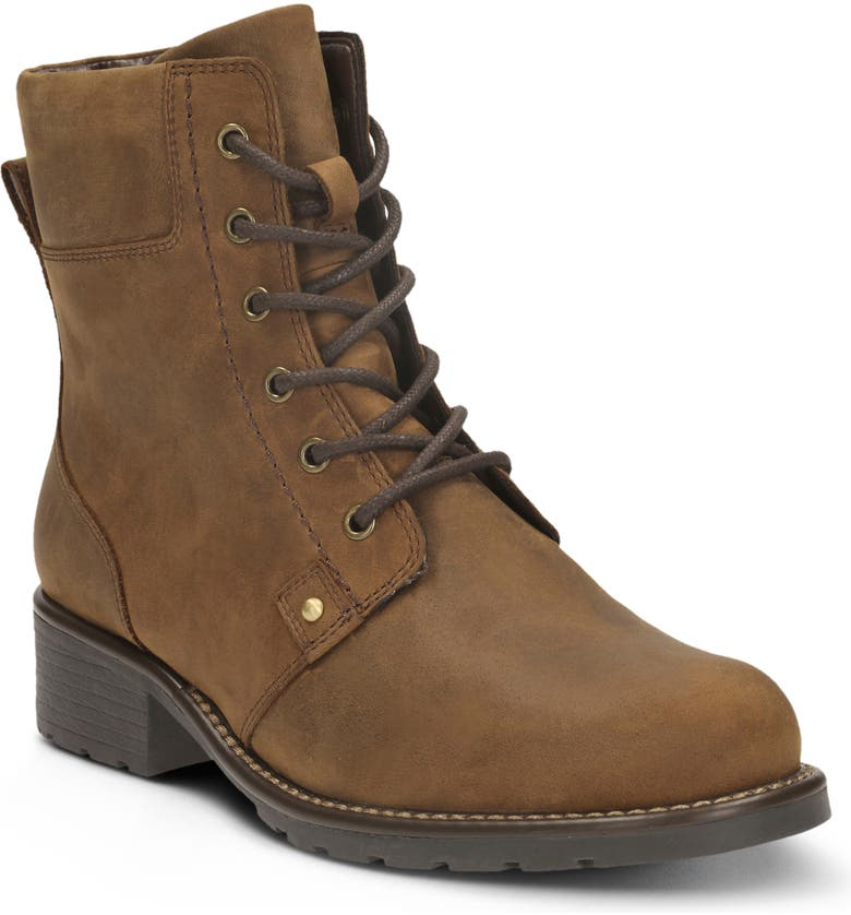 CLARKS<SUP>®</SUP> Orinoco Spice Waterproof Boot, Main, color, BROWN SNUFF LEATHER