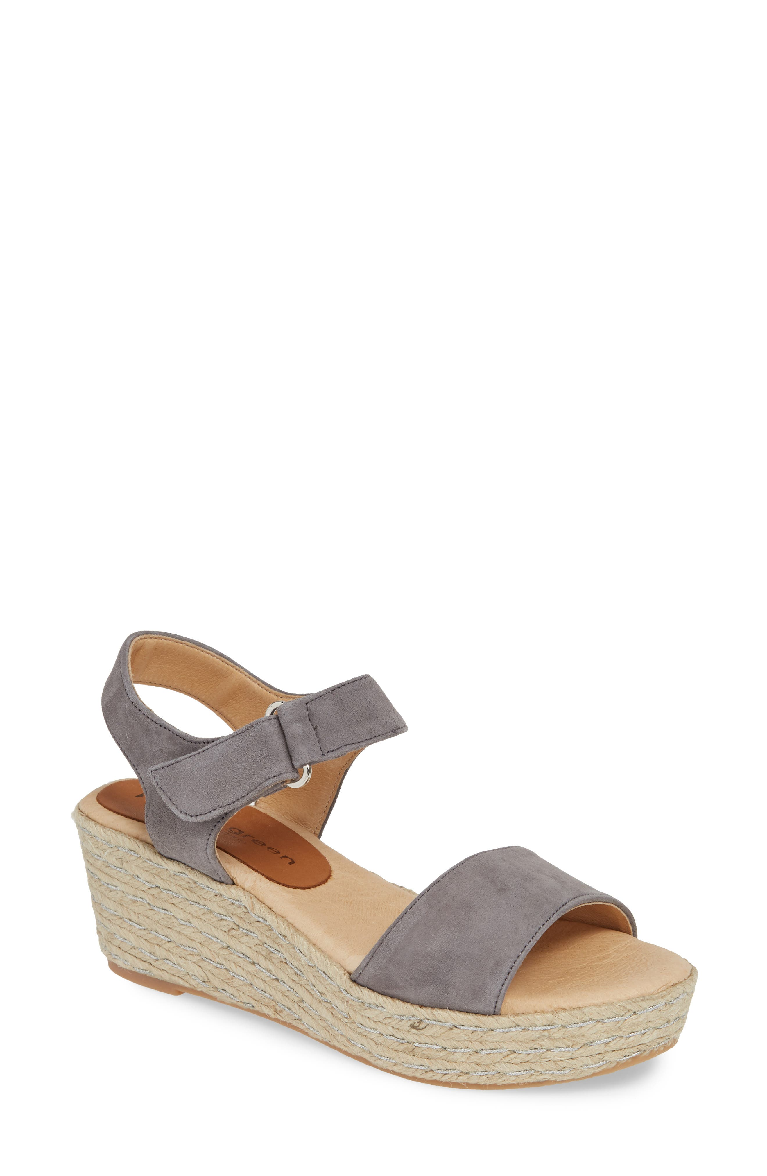 Patricia Green Corie Espadrille Wedge Sandal, Grey