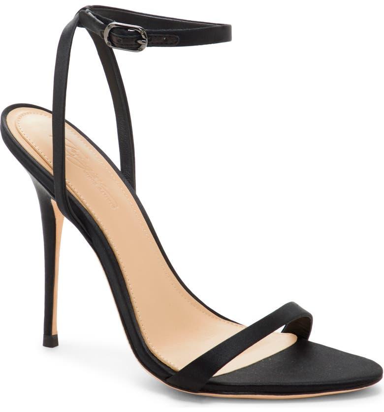 IMAGINE BY VINCE CAMUTO Reyna Ankle Strap Sandal, Main, color, BLACK SATIN