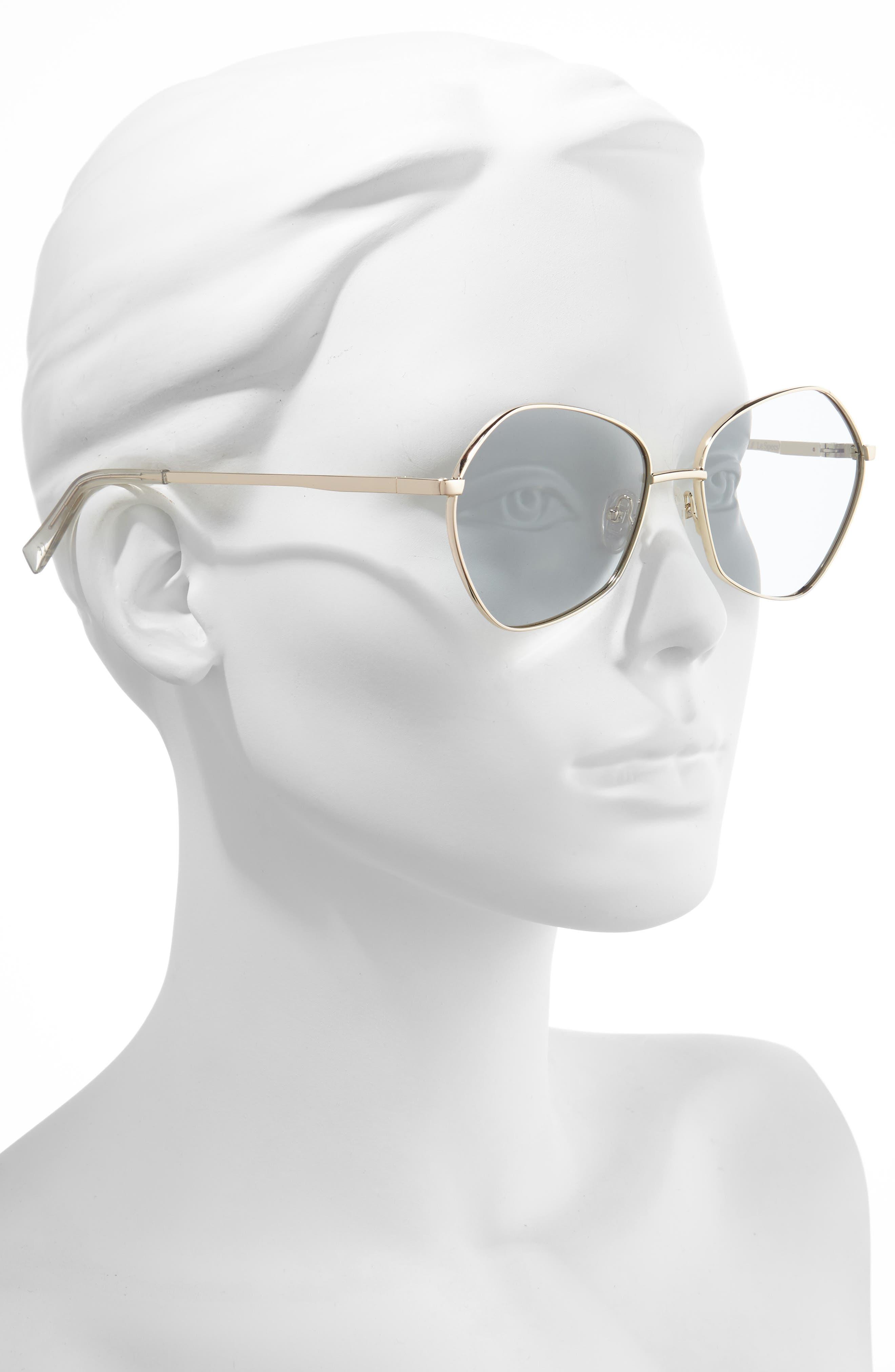 ,                             Escadrille 57mm Polarized Angular Sunglasses,                             Alternate thumbnail 2, color,                             GOLD/ GREY TINT