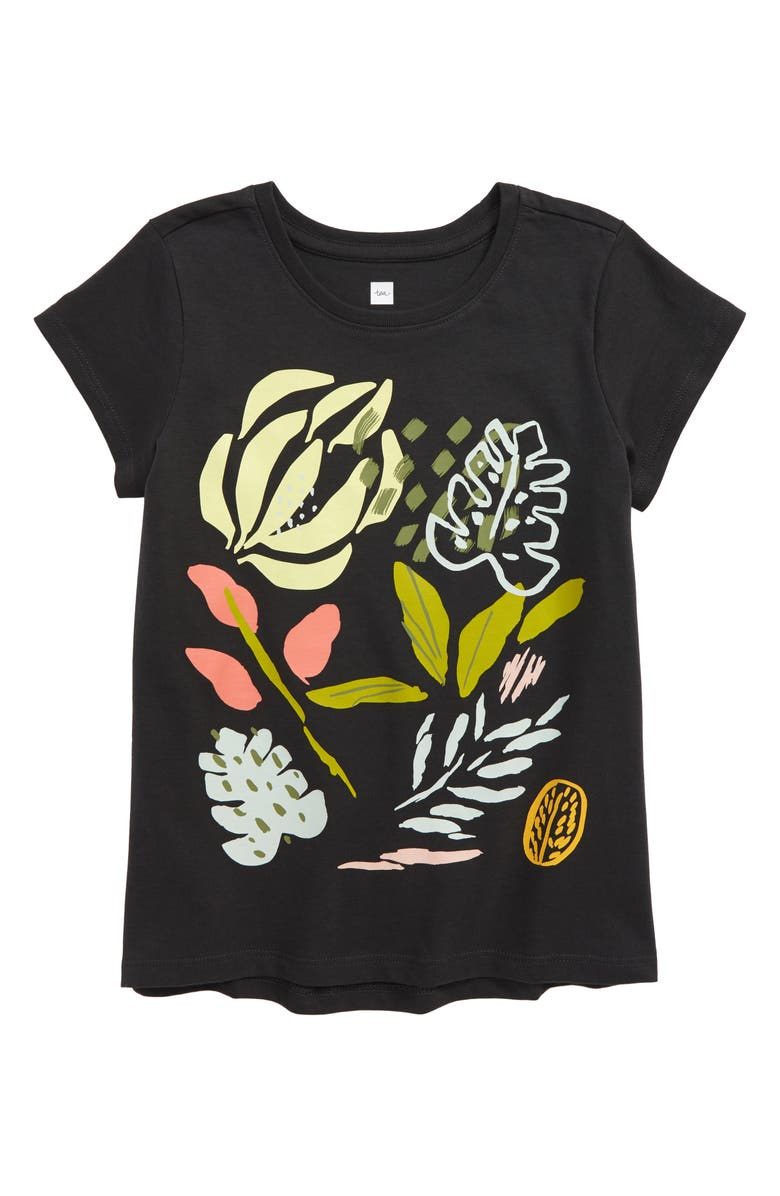 TEA COLLECTION Flora Graphic Tee, Main, color, 021
