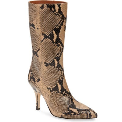 Paris Texas Python Embossed Boot - Beige