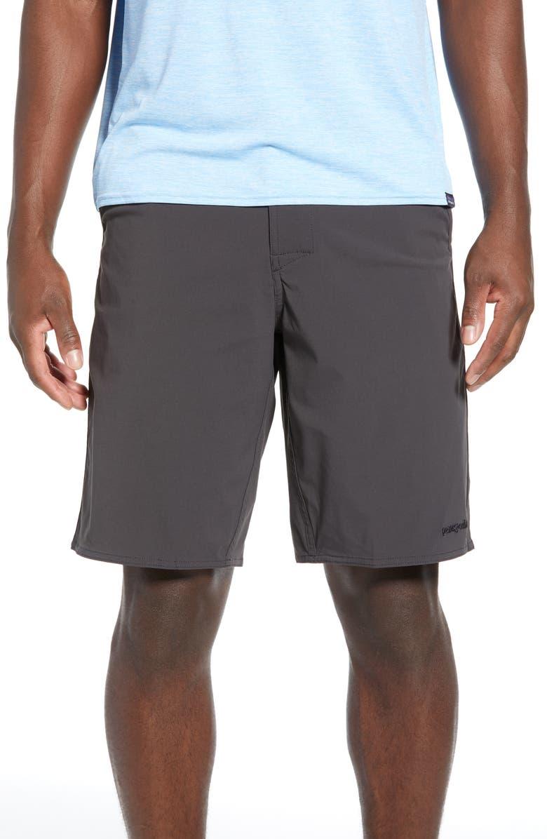PATAGONIA Stretch Wavefarer<sup>®</sup> Walking Shorts, Main, color, INK BLACK