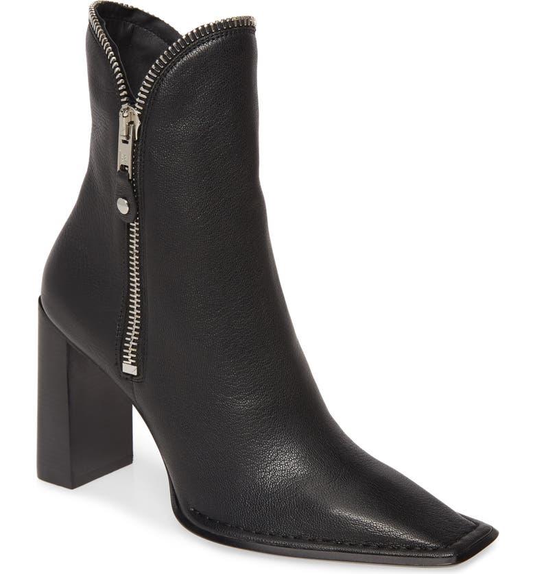 ALEXANDER WANG Lane Square Toe Boot, Main, color, BLACK