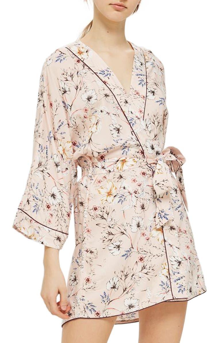 TOPSHOP Sketchy Floral Robe, Main, color, 650