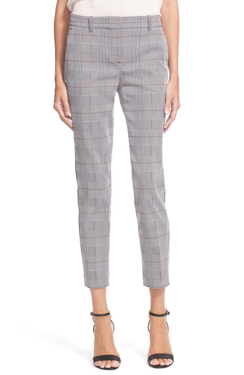 THEORY 'Treeca CL' Micro Houndstooth Pants, Main, color, 009