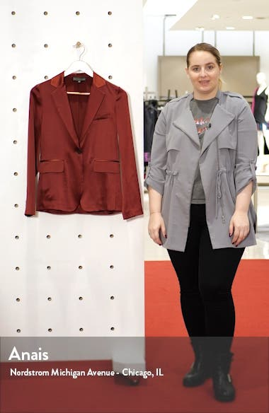 Sophia Silk Satin Jacket, sales video thumbnail