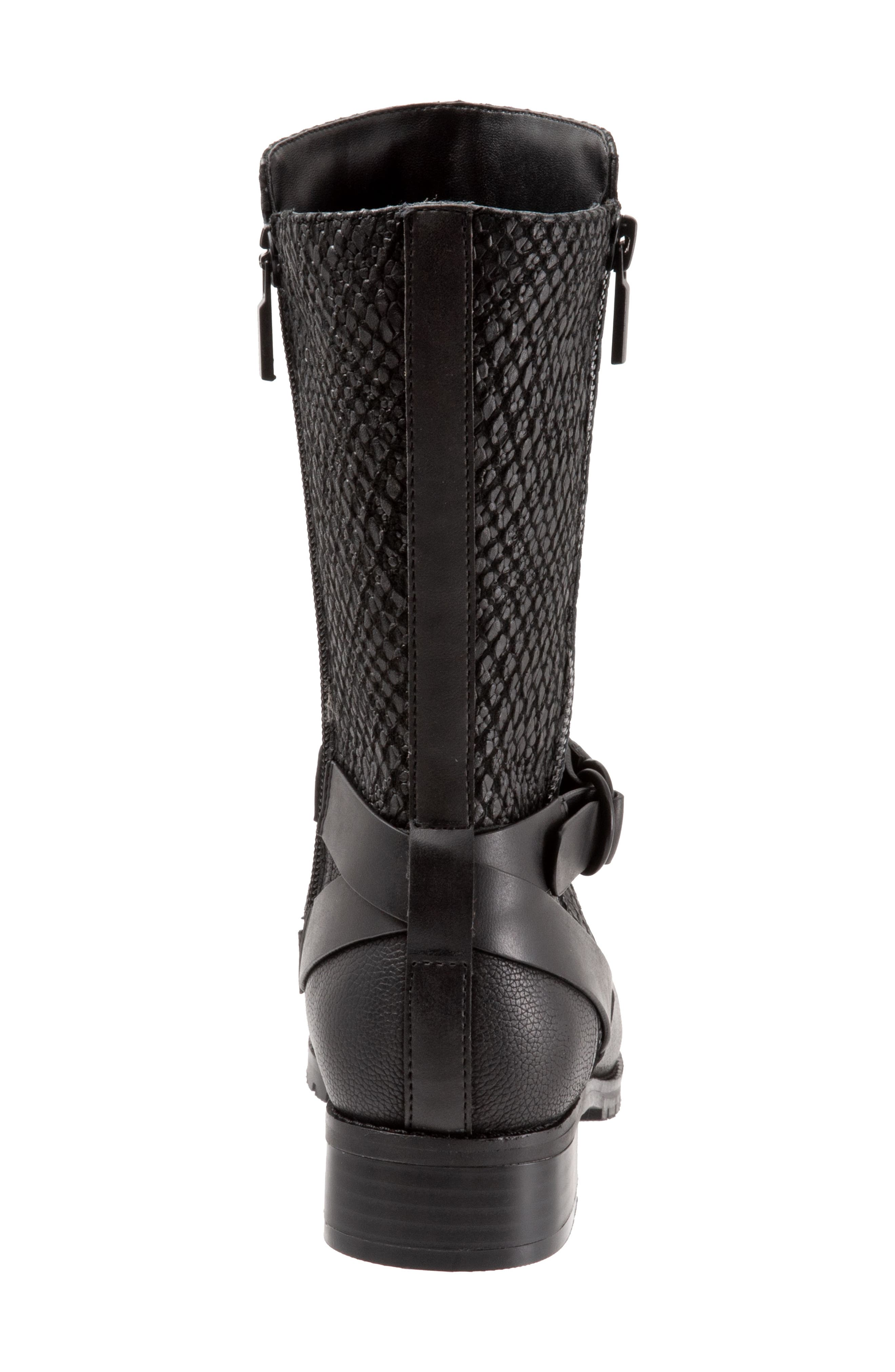 ,                             Marlowe Boot,                             Alternate thumbnail 7, color,                             BLACK REPTILE LEATHER