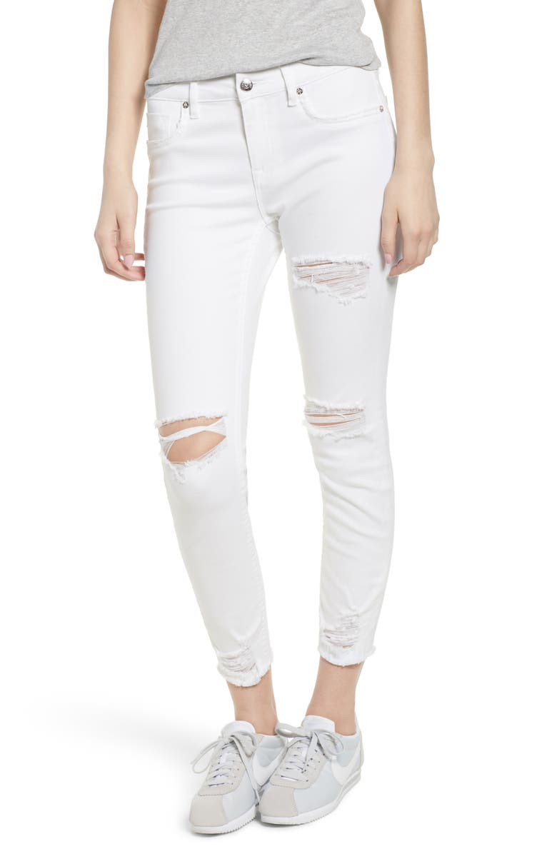 VIGOSS Ripped Skinny Jeans, Main, color, 100