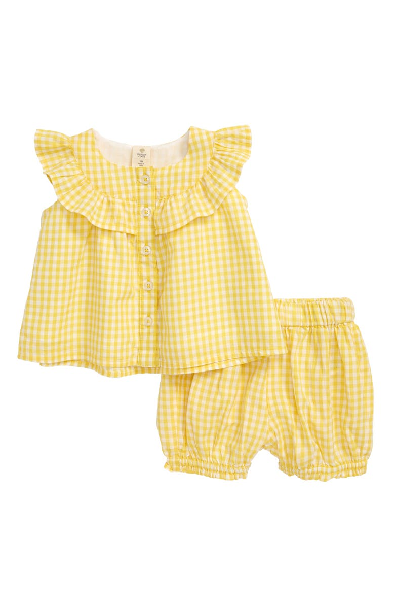 TUCKER + TATE Springtime Check Swing Top & Bubble Shorts Set, Main, color, 701