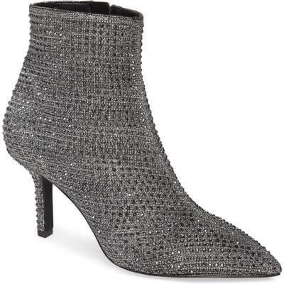 Michael Michael Kors Katerina Embellished Glitter Bootie, Black