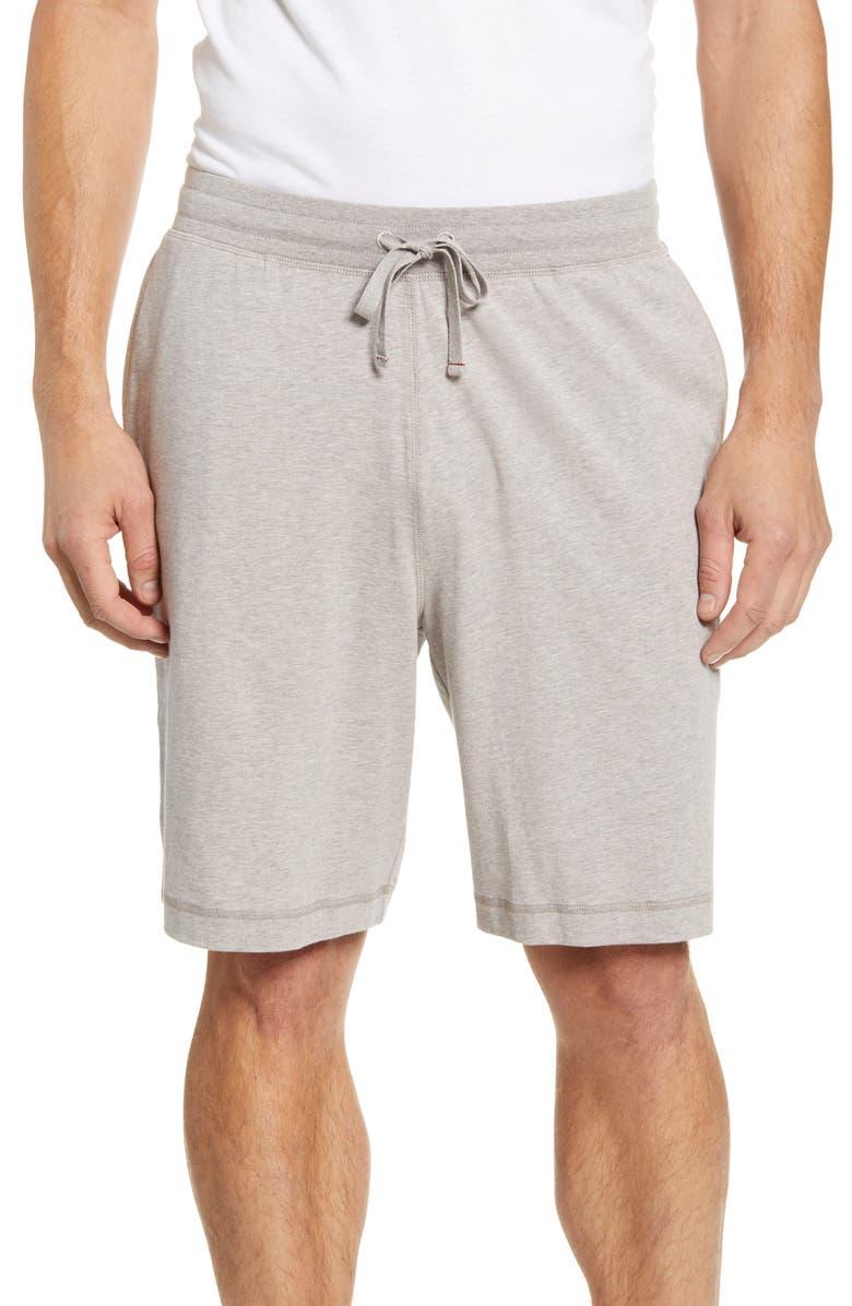 DANIEL BUCHLER Stretch Cotton & Modal Lounge Shorts, Main, color, SAND