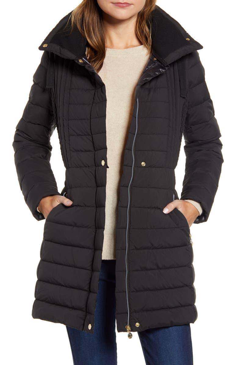 BERNARDO Down & PrimaLoft<sup>®</sup> Walker Jacket, Main, color, BLACK