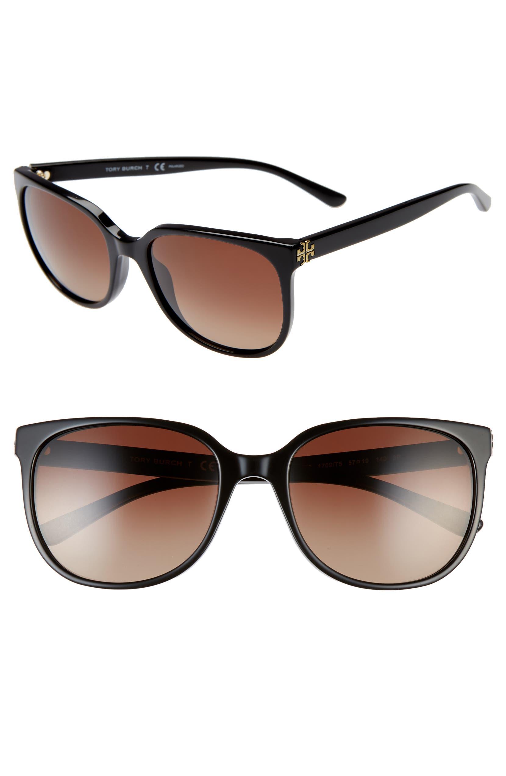 08e50ad0bbc1 Tory Burch Revo 57mm Polarized Square Sunglasses | Nordstrom