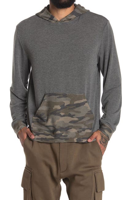 Image of Chillin Dylan Long Sleeve Comfy Camo Print Pullover Hoodie