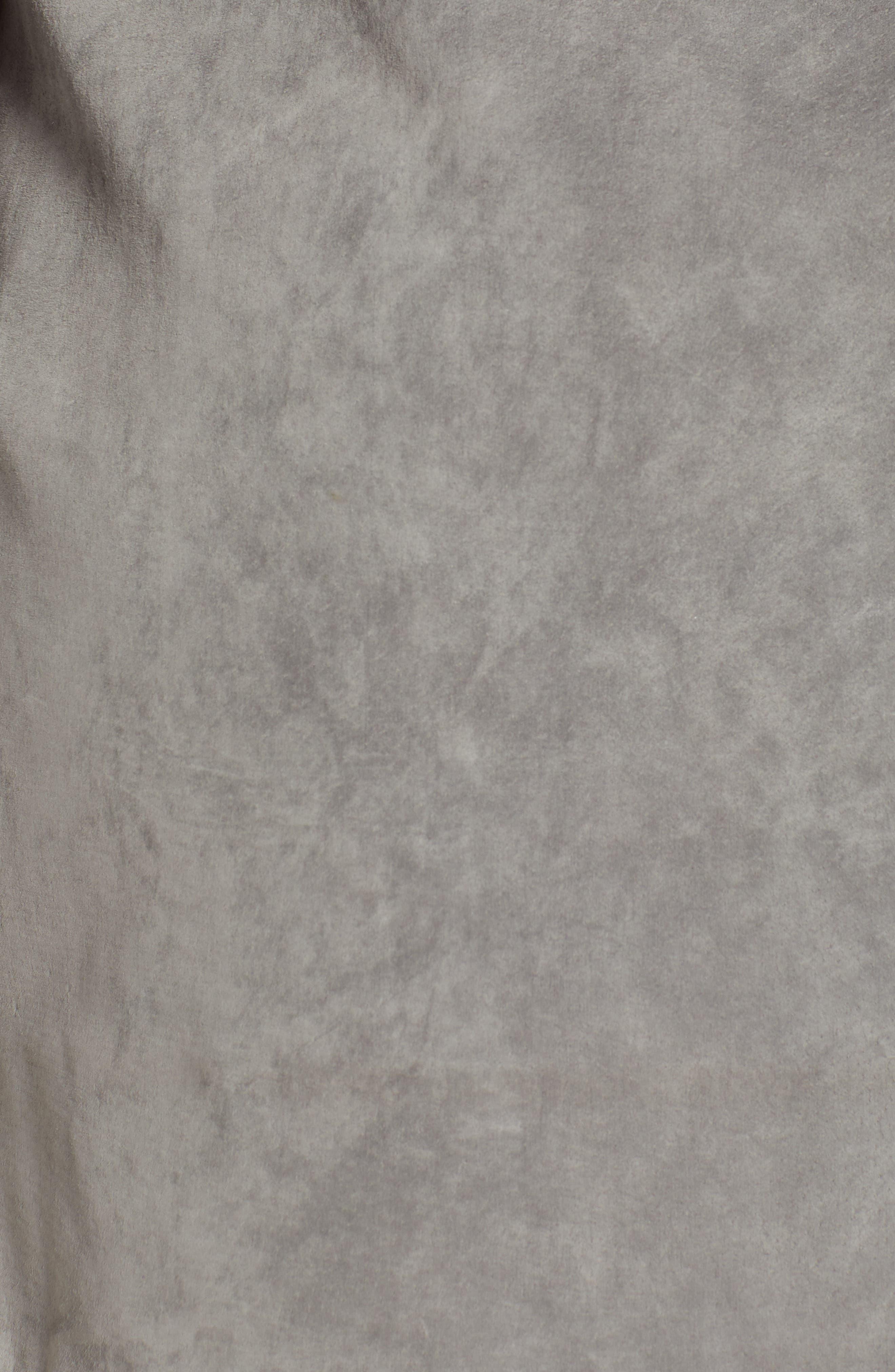 ,                             Lace-Up Suede Miniskirt,                             Alternate thumbnail 5, color,                             250