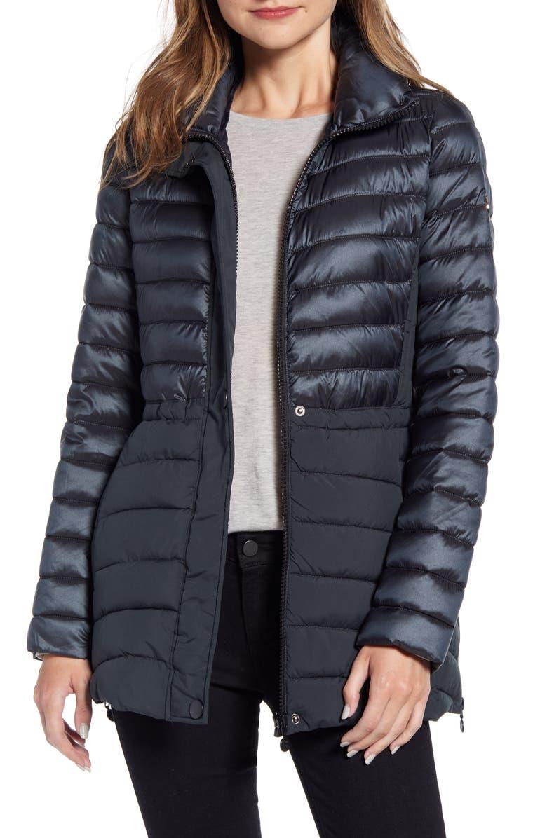 BERNARDO Mixed Media Packable Puffer Jacket, Main, color, 303