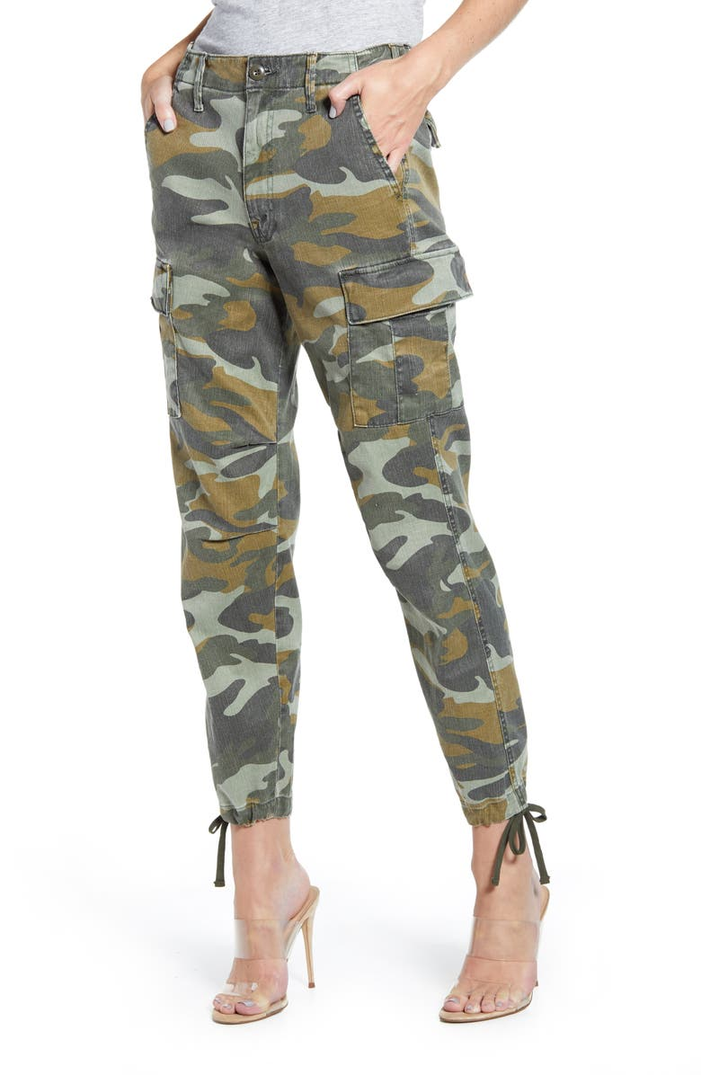 MOTHER The Sir Yes Sir Camo Cargo Jeans, Main, color, FINDING STRENGTH
