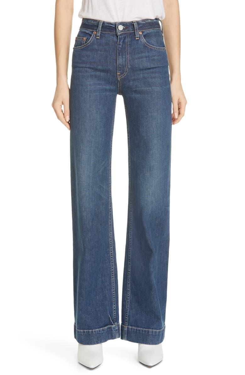 TRAVE Joan High Waist Wide Leg Jeans, Main, color, 400