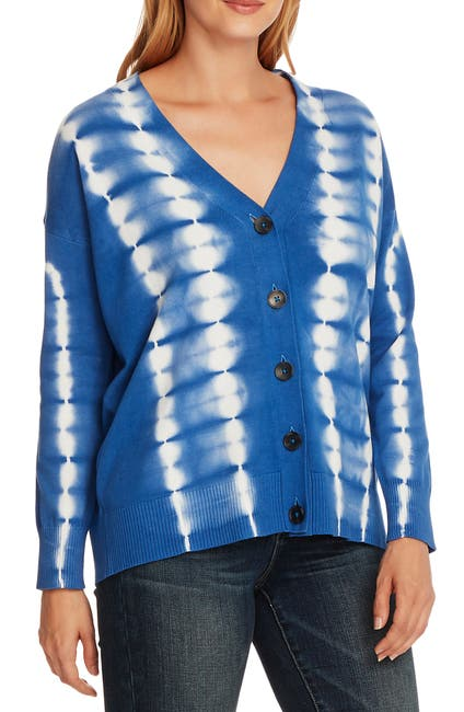 Image of Vince Camuto Ombré Cotton Cardigan