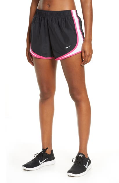 Nike Dri-fit Tempo Running Shorts In Black/ White/ Pink/ Wolf Grey